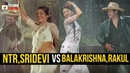 Sr NTR and Sridevi VS Balakrishna and Rakul Preet Aaku Chatu Video Song NTR Kathanayakudu Movie