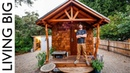 Off-Grid Artisan Tiny House Built To Escape Wildfires || Living Big In A Tiny House
