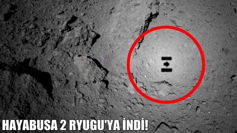 Hayabusa 2 Uzay Aracının Asteroid Ryugunun Yüzeyinden Örnek Topladığı An!