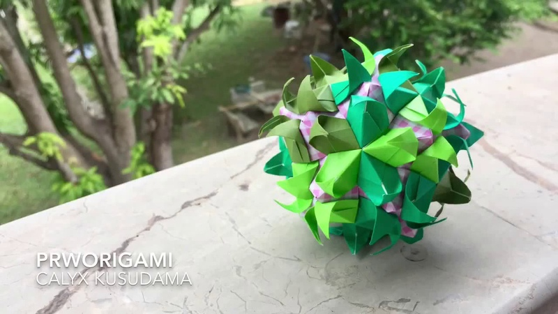 Calyx Kusudama - PrwOrigami Folding Tutorial