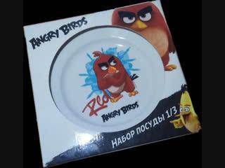 """Набор посуды 1/3  """"angry birds"""" ( 300 руб. в наличии)"""