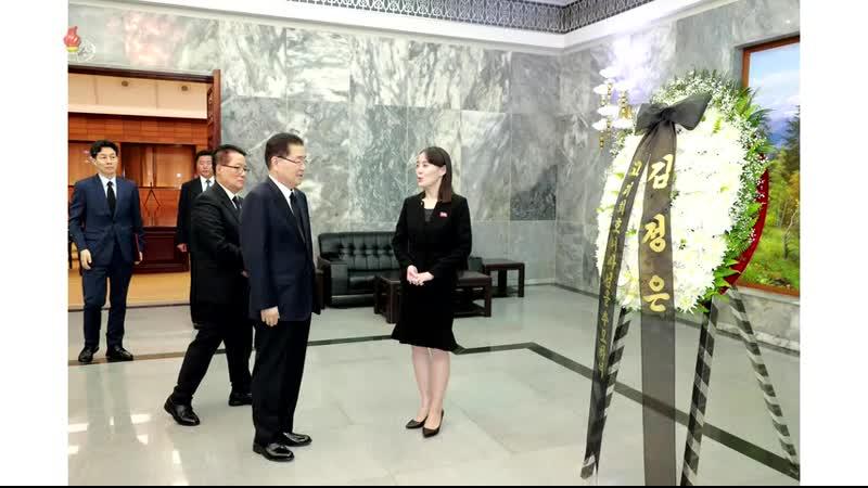 경애하는 최고령도자 김정은동지께서 김대중 전 대통령의 부인 리희호녀사의 유가족들에게 조의문과 조환을 보내시였다