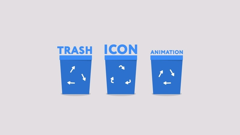 Trash icon animation After Effects tutorial