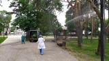 В Левобережном районе парк Алые паруса обработали от насекомых