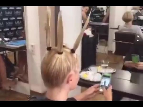 اغرب طريقة لقص الشعر ! عمرك خسارة اذا ماتشو16