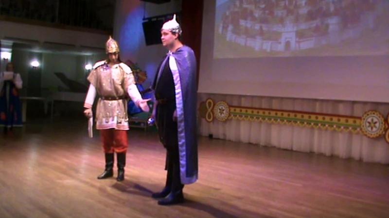 Рыцарский турнир (13.10.2018) Показ костюма Александра-богатыря
