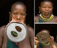 Largest Lip Plate Woman with the Worlds Biggest Lip Disc - measuring nearly 60cm