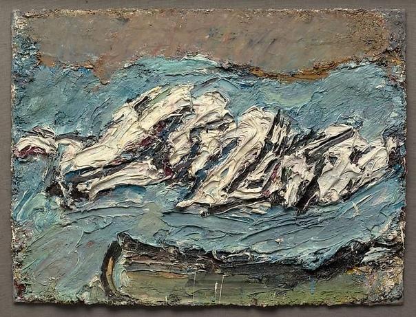 E. O. W. on her Blue Eiderdown 1965 Фрэнк Ауэрбах, Fran Auerbach ( род. 1931)