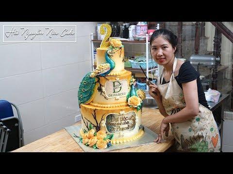 Bánh Sinh Nhật Trang Trí Chim Công Cho Sự Kiện Đặc Biệt - Party Cake Decorate Peacock