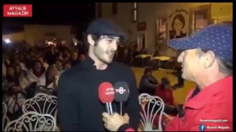Хазал и Бурак на закрытии кинофестиваля в Айвалыке
