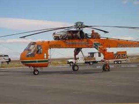 Машины монстры Вертолёт кран Sikorsky S 64 SkyCrane National Geographic