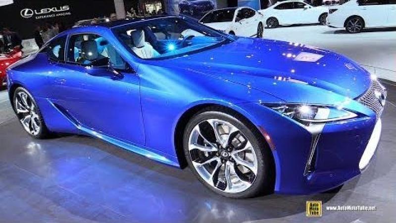 2018 Lexus LC500 Structural Blue - Exterior Walkaround - 2018 New York Auto Show