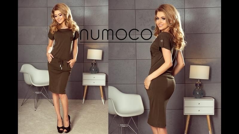 196-2 Sukienka sportowa z krótkim rękawkiem - wholesale clothing company numoco