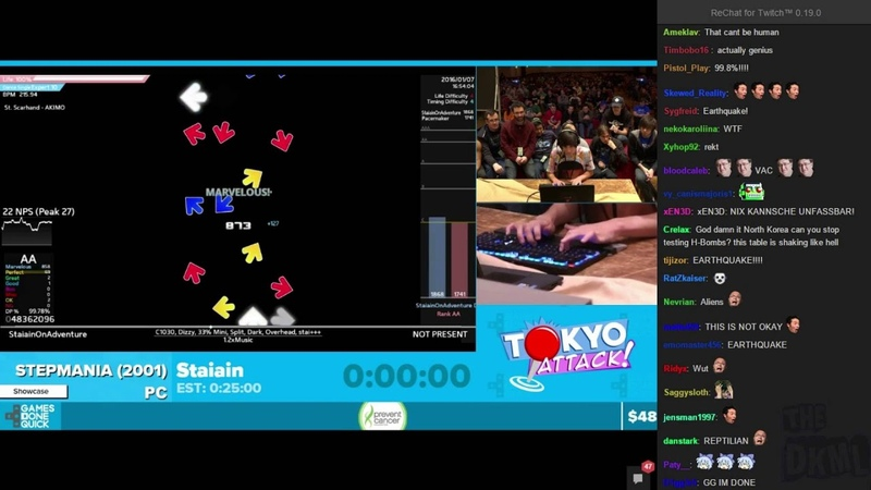 The Most Amazing Thing Ever on Twitch AGDQ 2016 Stepmania