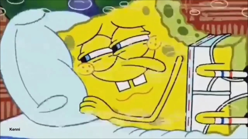 SpongeBob Morning Flower Distorted