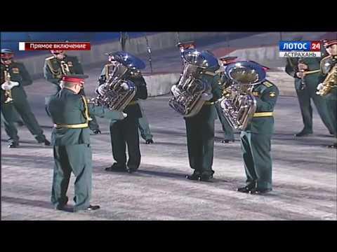 Военный оркестр, г.Волгоград. Начальник оркестра – майор В.Сергованцев