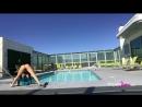 Rahyndee James pool bts photoshoot with her sister Capri!