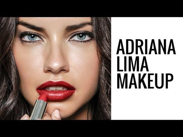 ADRIANA LIMA MAKEUP TUTORIAL   Glam Makeup   Eman