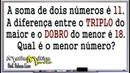 SISTEMA DE EQUAÇÕES DO 1º GRAU - INTERPRETAÇÃO DE PROBLEMAS - Prof. Robson Liers - Mathematicamente