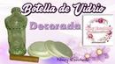 BOTELLA DE VIDRIO DECORADA NANY ESCOBEDO COLABORATIVO
