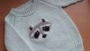 Вышивка по петлям . Как я вышиваю по вязаному полотну