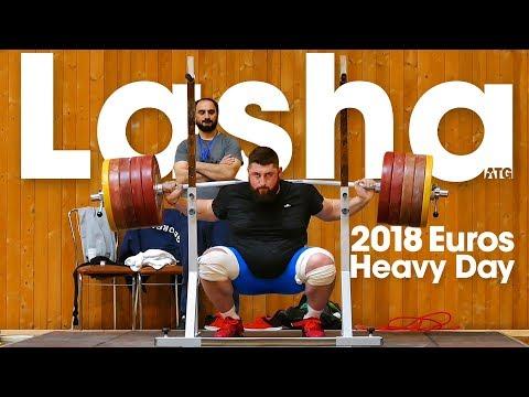 Lasha Talakhadze Heavy Training (200kg Snatch!) before 2018 European Championships