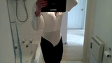 Tgirl iona - White bodysuit and tights..