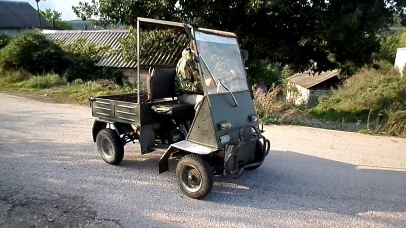 гольф кар из муравья, первый выезд на этой машинке