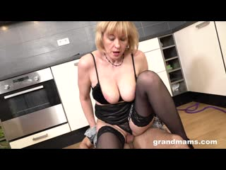 Grandmams [grandma demanding her young sex slave to fuck her cunt]