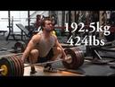 192 5kg 424lbs Snatch Attempt Training with Gabriel in Ireland
