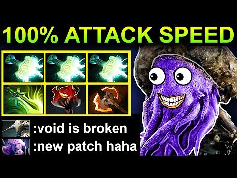 100 % ATTACK SPEED FACELESS VOID - PATCH 7.17 DOTA 2 NEW META GAMEPLAY 133