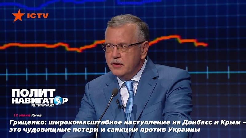 Гриценко: широкомасштабное наступление на Донбасс и Крым – это чудовищные потери и санкции против У