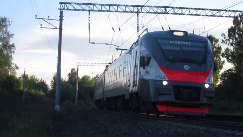 Электропоезд ЭП2Д-0044 станция Нара 8.07.2018