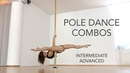 Pole Dance Combos Int/Adv Static Spinning (pole moves in the description)