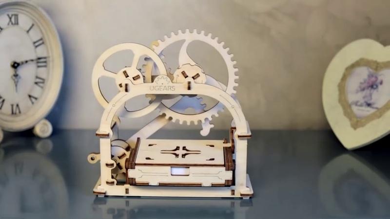 Механическая 3D шкатулка из дерева на Hyperhut ru