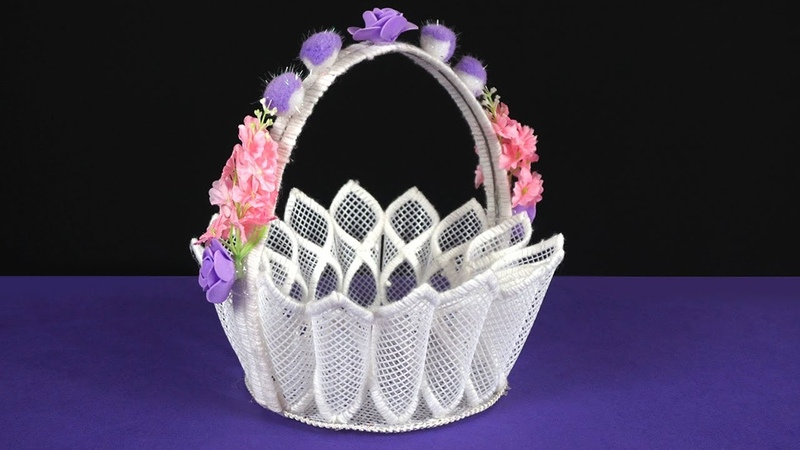How to Make Plastic Canvas Basket - Step by Step Tutorial