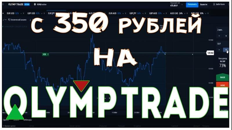 Как заработать на Олимп Трейд с 350 р. | Лучшая стратегия торговли | OLYMP TRADE бинарные опционы.