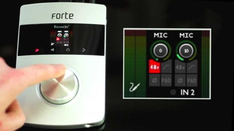 Focusrite Forte audio interface overview