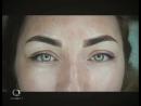 Перманентный макияж брови пиксель стрелка с растушевкой