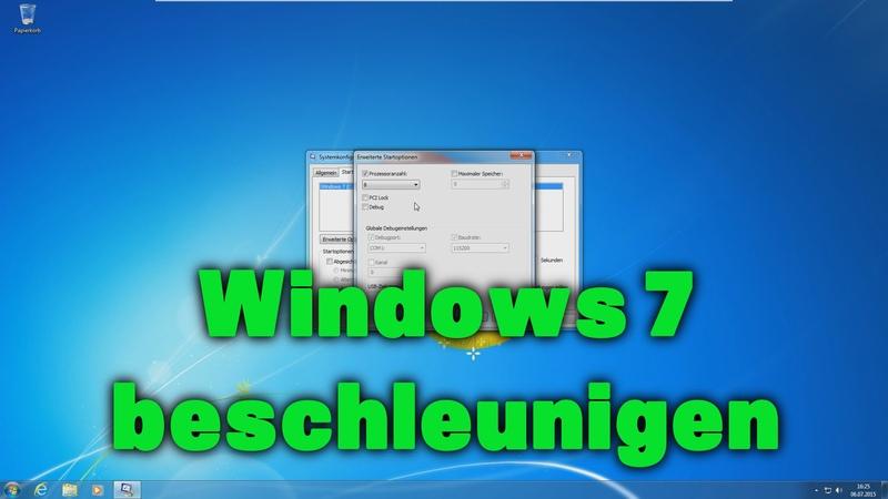 Windows 7 beschleunigen schneller machen