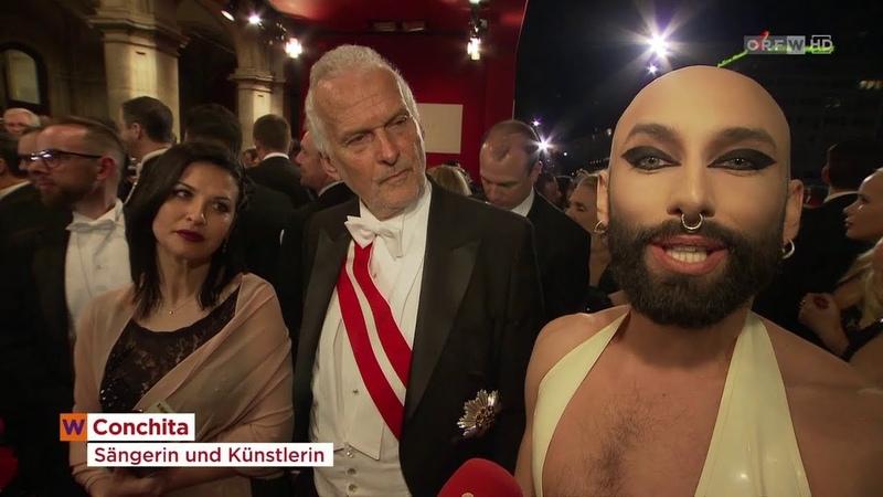 Conchita, Opernball (2019-03-01, ORF2, Wien Heute)