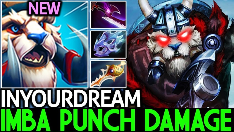 Inyourdream [Tusk] Imba Punch Damage One Hit Kill 7.20 Dota 2