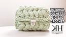 TUTORIAL POCHETTE UNCINETTO PUNTO PUFF ZIG ZAG - Crochet Russian Bag● Katy Handmade