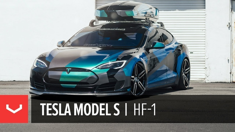 Tesla Model S | Signature Customs | Vossen Hybrid Forged HF-1 Wheels