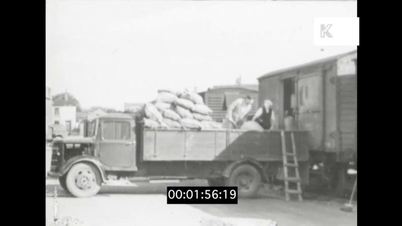 Transporting Goods 1940s UK Truck Train
