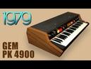 GEM/LEM PK 4900 String Machine 1979 | HD DEMO