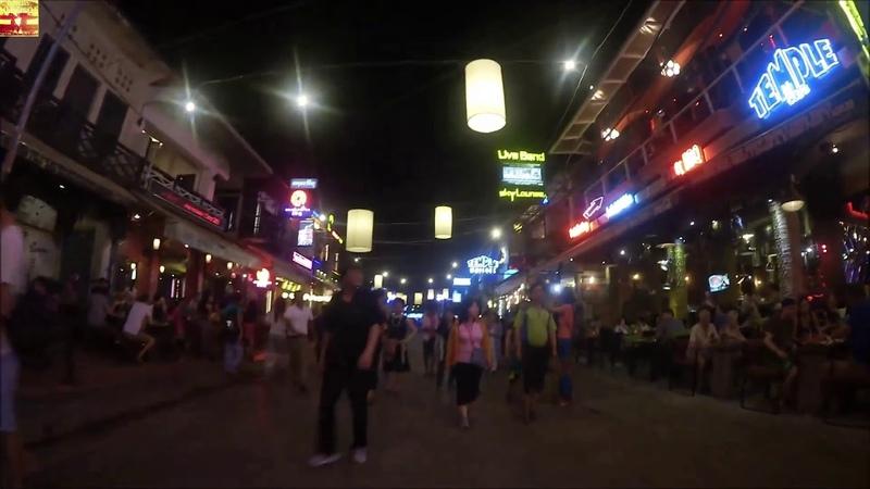 Night Siem Reap, Cambodia (Ночной Сиемреап, Камбоджа)