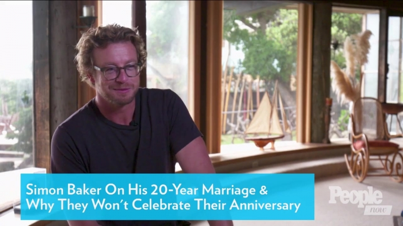 Simon Baker talks about his 20-year marriage why they won't celebrate their anniversary