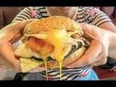 THE BEST BURGER IN LONDON BEEF STEAK FRIED EGG GRILLED CHEESE BACON CHIPS BBQ BEEF STREET FOOD