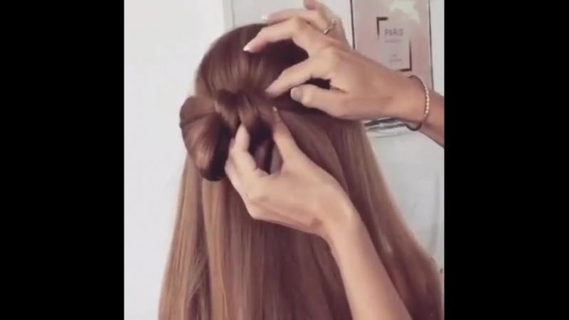 Бант из волос Легко и быстро